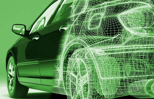 """Rendering green car   Das hauptsächliche Ziel des """"Car-Wing"""" Lebensenergie-Produktes ist die Reduzierung von Elektrosmog im Auto. Die Elektronik erhöht beim Autofahren den Komfort, aber intensiviert damit auch die elektromagnetische Strahlung. In einem Auto existiert ebenfalls die gesamte künstliche elektromagnetische Strahlung, die auch in einem Wohnumfeld und am Arbeitsplatz vorhanden ist. Die elektromagnetische Strahlung entzieht unserem Körper permanent Energie. www.earthangel-family.de"""
