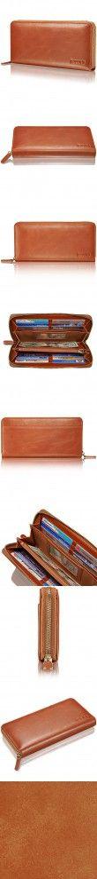 "KAVAJ Leather wallet ""Vienna"" cognac brown- genuine leather wallet for women"