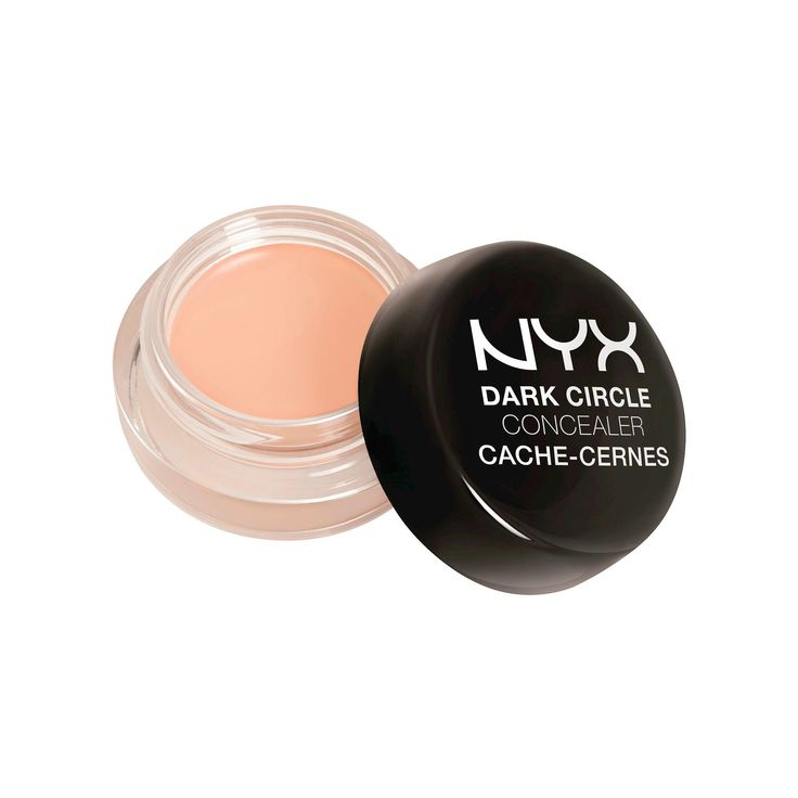 "NYX Dark Circle Concealer : ""The lighter shades have peach undertones and the deeper have orange, which are both great at combatting the blue under eyes most people have. The formula is in a pot but it's not thick or dry, and never looks cakey. I like to apply with my ring fingers to warm it up and pat where the under eyes are especially dark, and then blend out. And for $6, you can't beat the price!"" —Joanna Simkin, a makeup artist who has worked on projects with Britney Spears and Lady…"