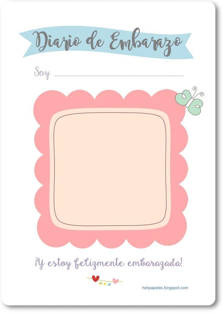 Heli Papeles ♥: Diario de Embarazo para imprimir ♥