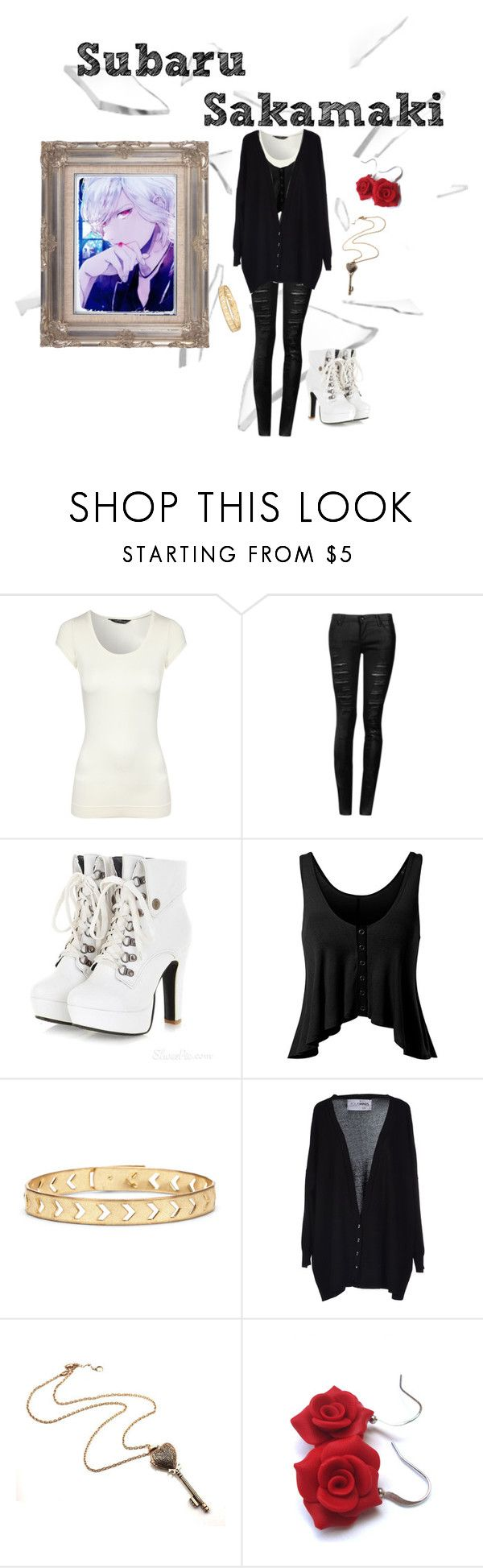"""Sakamaki Subaru Casual Cosplay (Diabolik Lovers)"" by psychometorzi ❤ liked on Polyvore featuring Jane Norman, Sole Society and FourMinds"