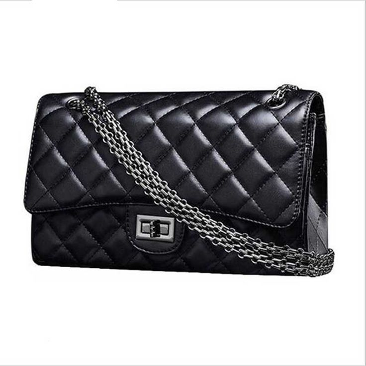 2016 Luxury Brand Plaid Quilted Chains Designer handbag Leather Women Crossbody Bag Messenger Bag Ladies Female Sac A Main Bolso www.bernysjewels.com #bernysjewels #jewels #jewelry #nice #bags