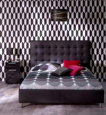 Mobilier - La Chambre Adulte - Lits - Lit 140x190 cm JAPP noir