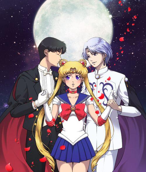 Tuxedo Mask:She's mine Prince Diamond:No she's mine Sailor Moon: ummmm uhhh o.o