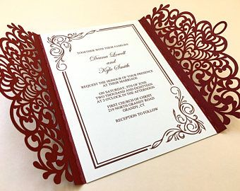 Laser Cut Wedding Invitation, Wedding Invitation laser cut, cheap laser cut wedding invites, Laser Cut Invitations, Laser Cut Cards