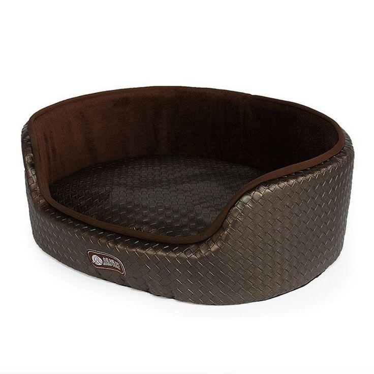 Luxury Leather Large Dog Beds With Dual Using Cushion Washable Pet Dog House #Generic