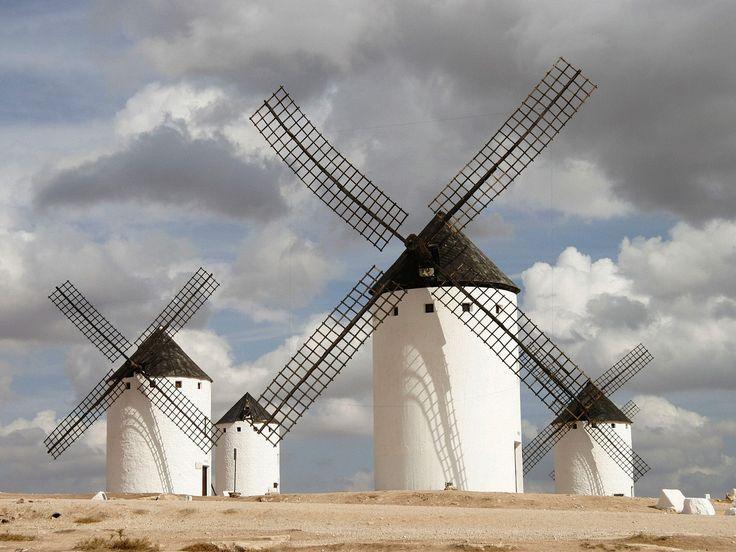 Los molinos de la Mancha.