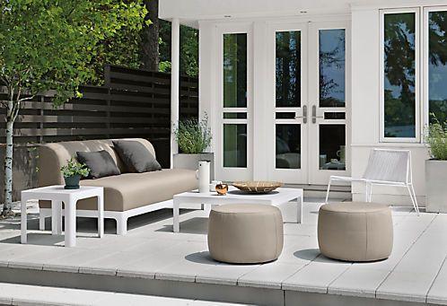 Boyd Modern Round Indoor-Outdoor Ottomans - Modern Benches & Stools - Modern Kids Furniture - Room & Board