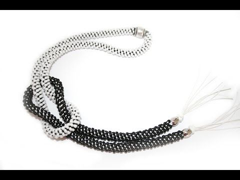 DIY Kumihimo Knot Necklace - www.perlinebijoux.com - YouTube