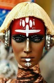 Resultado de imagen para traditional african tribal makeup
