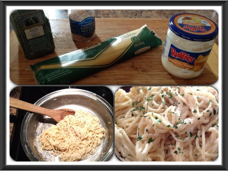 """I call this """"ruffles pasta""""."""