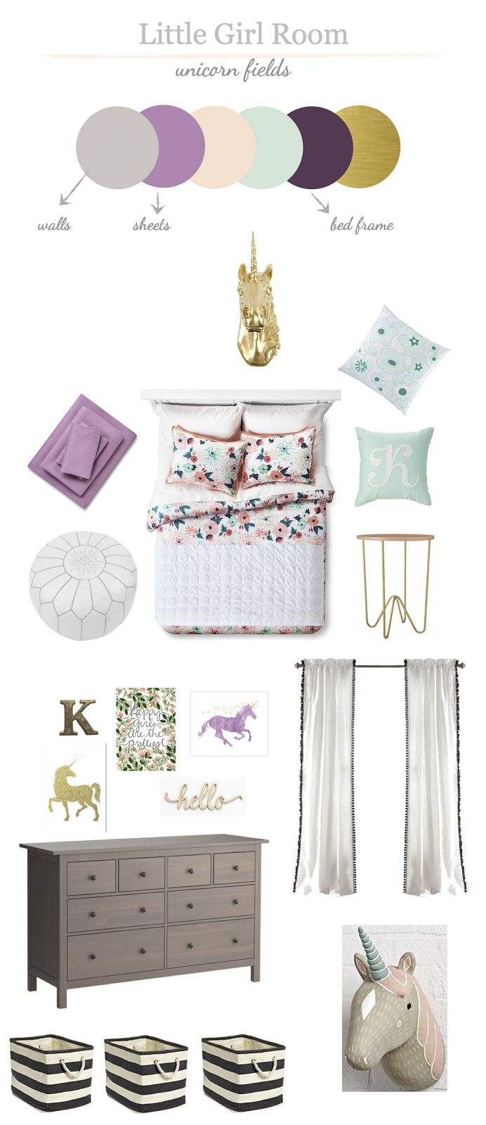 Whimsical Little Girls Room                                                                                                                                                     More