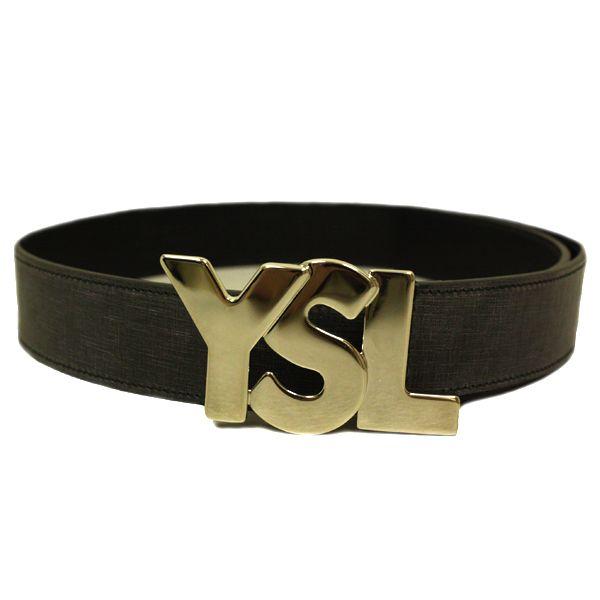 fe263700757 YSL Logo Belt