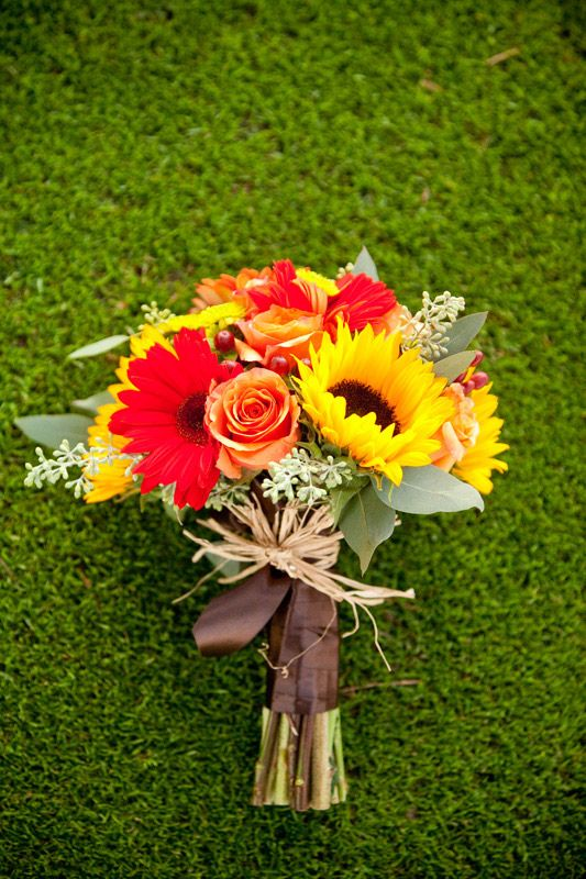Fall Flowers Bouquet I like that these have some sunflowers but not the whole bouquet
