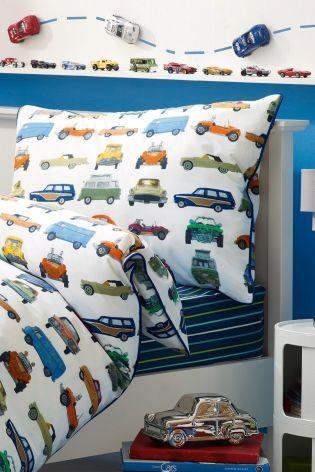 Buy Vintage Car Cotton Rich Print Bed Set from the Next UK online shop