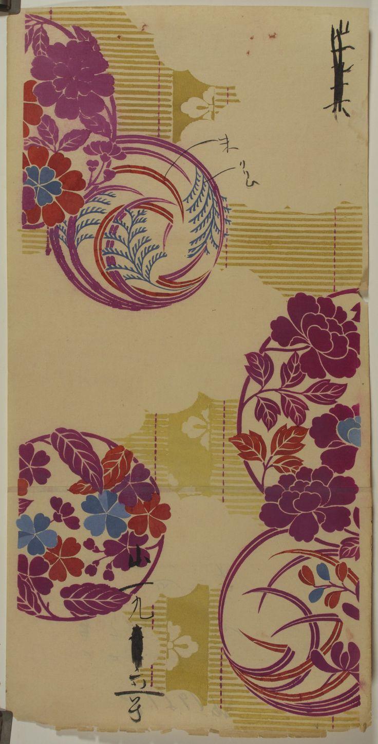 Japanese Textile Design A. Kitagawa Japan - c. 1935