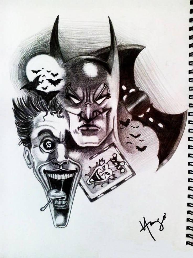 Best 25+ Joker tattoos... Easy Gangster Joker Drawings