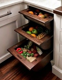 Storage Ideas for Small Kitchens // The produce dr - http://www.hgtvdecor.com/decoration-ideas/storage-ideas-for-small-kitchens-the-produce-dr.html