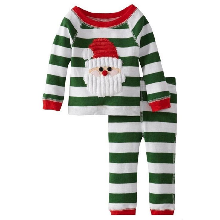 28.72$  Know more - http://aiosd.worlditems.win/all/product.php?id=32718720359 - Kids Girl Clothes Autumn Winter Boys Clothing Set Character Christmas Green Santa Claus Striped Unisex Children Tracksuit