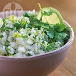 Mexicaanse rijst met verse koriander en limoen @ allrecipes.nl