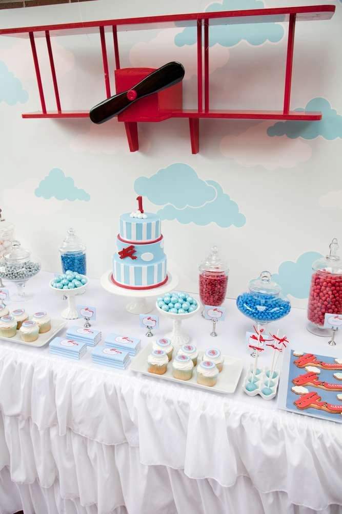 Vintage Aeroplane Party Birthday Party Party Ideas | Photo 12 of 12 | Catch My Party