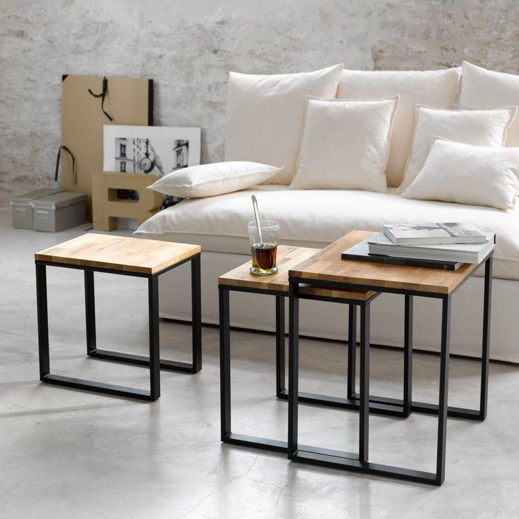Les 25 meilleures id es concernant tables gigognes sur pinterest tables de - Table basse gigogne bois ...