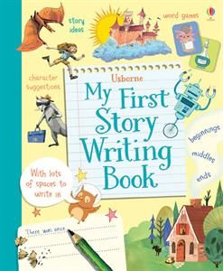 Let your child learn to write a story step by step. Each page encourages their thinking and imagination as they learn to write a story of their own.
