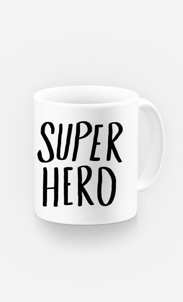 Mug Super Hero par Leah Flores - Wooop.fr