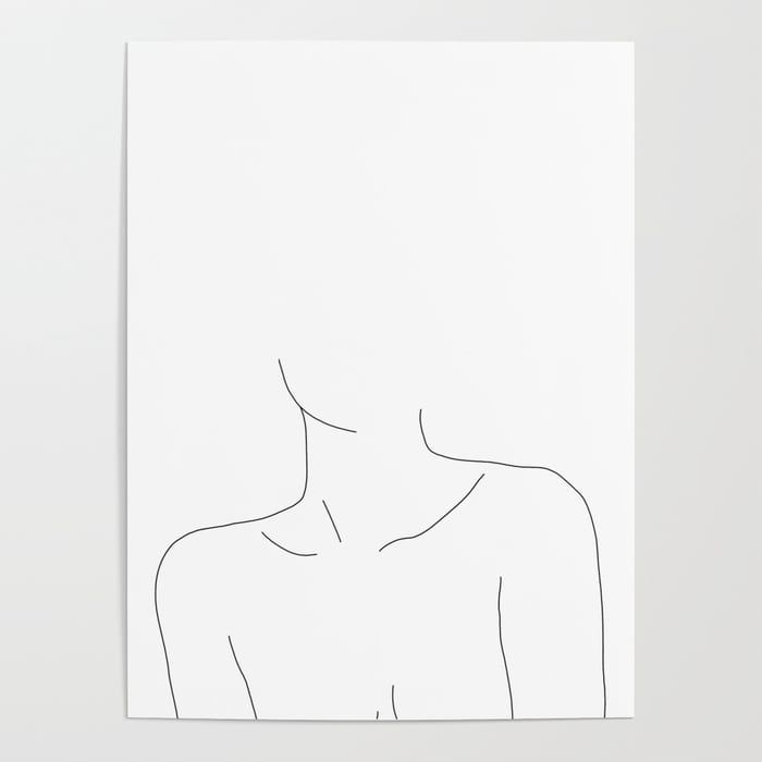 Buy Neckline collar bones drawing – Erin Poster by thecolourstudy. Worldwide shi… – Janelle