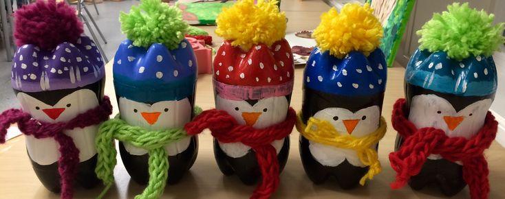 Пингвины идеи из пластмассовых бутылок🤗👏👍