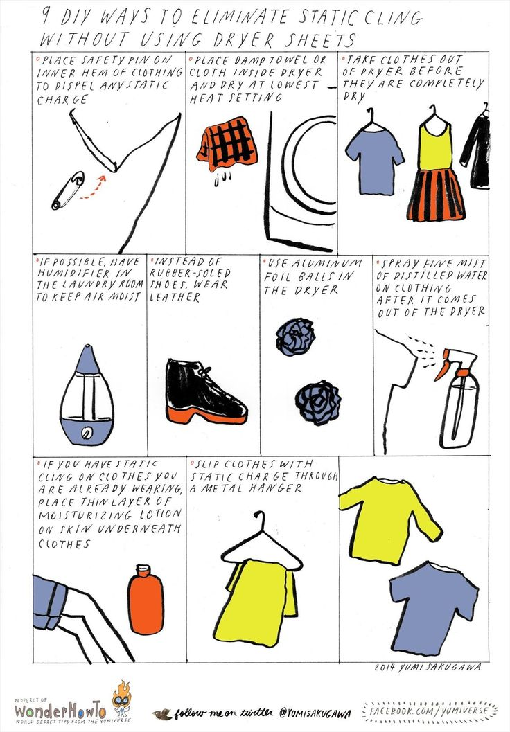 9 DIY Ways to Eliminate Static Cling Without Using Dryer Sheets « The Secret Yumiverse
