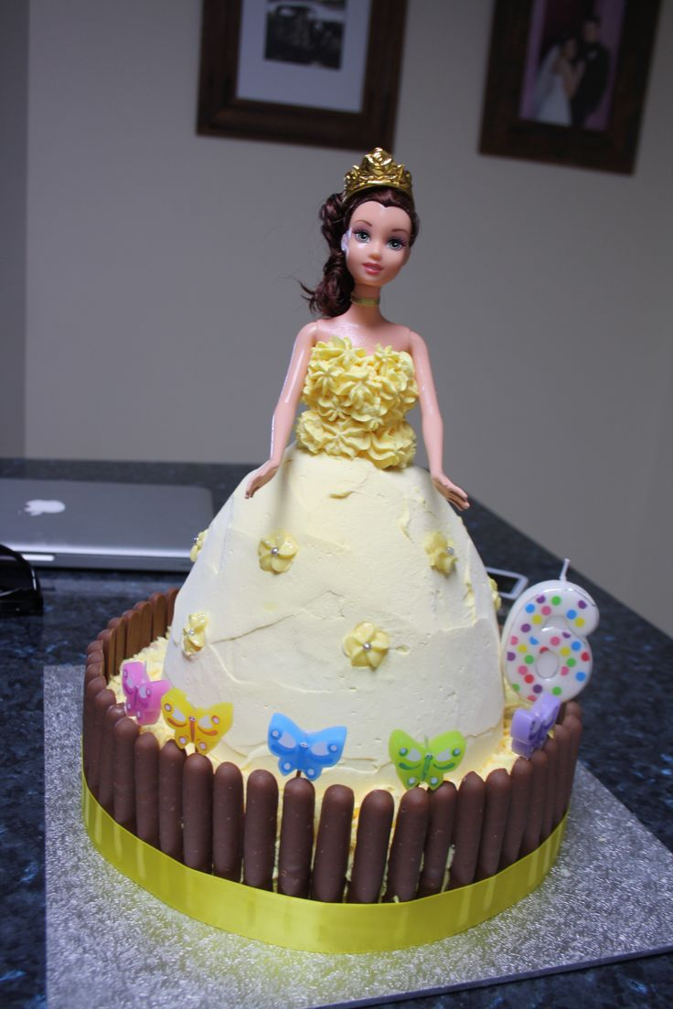 Princess Belle Dolly Varden cake