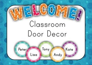 Classroom Door Decor - Back to School {FREE} Student Names Editable in Adobe Reader