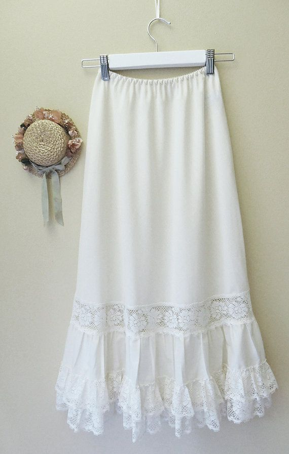 Ethereal Vintage Mori Girl Petticoat Skirt by parlourvintagelife, $22.00