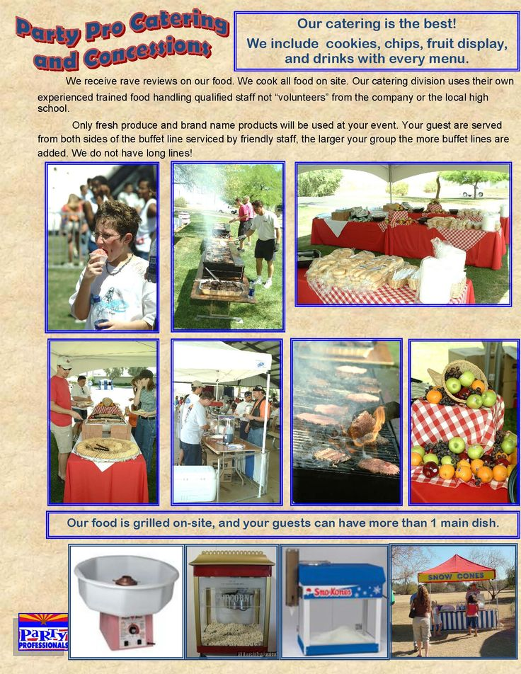 Catering in Phoenix, Scottsdale | Company Picnic Arizona - http://partyprofessionals.com/catering/