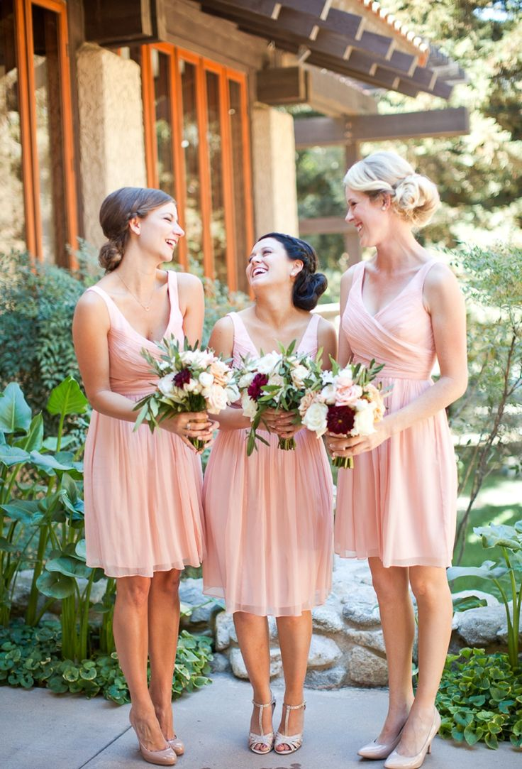 Best 25 blush colored bridesmaid dresses ideas on pinterest a romantic cranberry maroon blush wedding blush pink bridesmaid dressesbridesmaid ombrellifo Choice Image