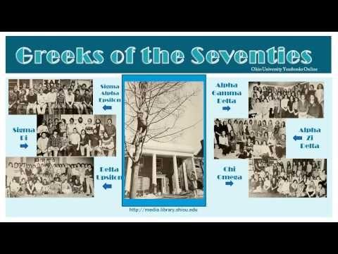 Greek Life in Ohio University Yearbooks Online slideshow. :: Ohio University Archives