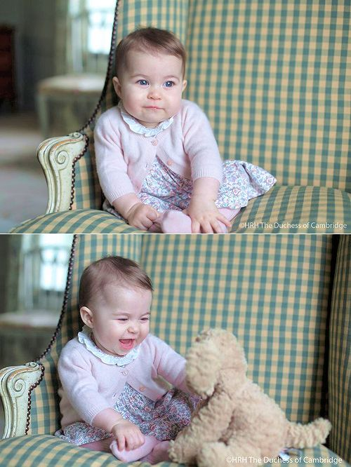 November 29, 2015-Kensington Palace has released new photos of Princess Charlotte, aged 6 months, taken in early November by her mother the Duchess of Cambridge