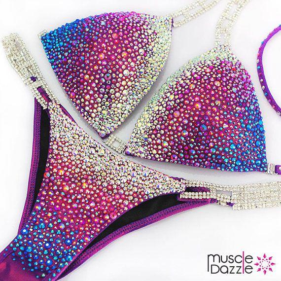 Purple Fitness Competition Bikini CB273