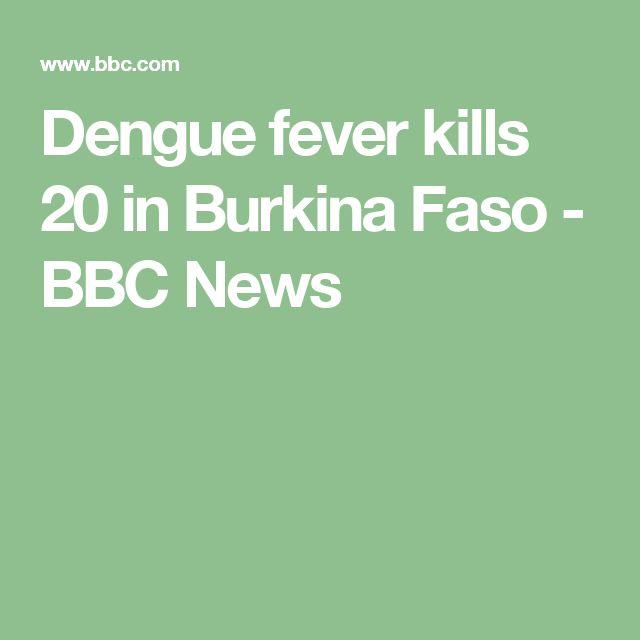 Dengue fever kills 20 in Burkina Faso - BBC News