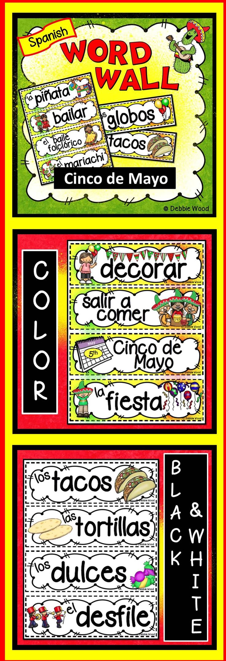 best ideas about spanish learning spanish cinco de o spanish word wall