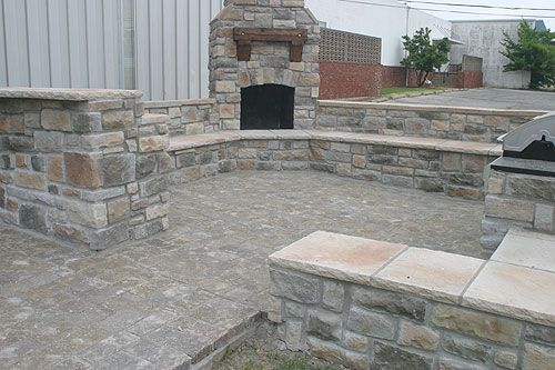Tulsa Stone and Brick Works | Outdoor Fireplaces | Outdoor Kitchens | Linnaeus Garden Outdoor Fireplace & Kitchens | BBQ Hardware-SR