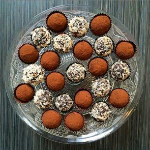 Chokladbollar med brynt smör och espriso