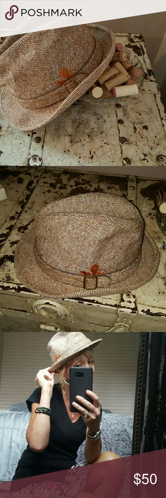 Fedora  hat 👒 Sale! Great bargain! THIS  years hot trend for women and men. This is a men's Fedora brand new tweed Fedora hat. Either or for women or men. Great gift! Dobbs Accessories Hats