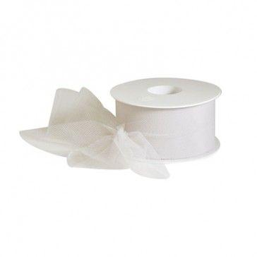 Tule wit is geschikt voor het maken van mooie strikken.
