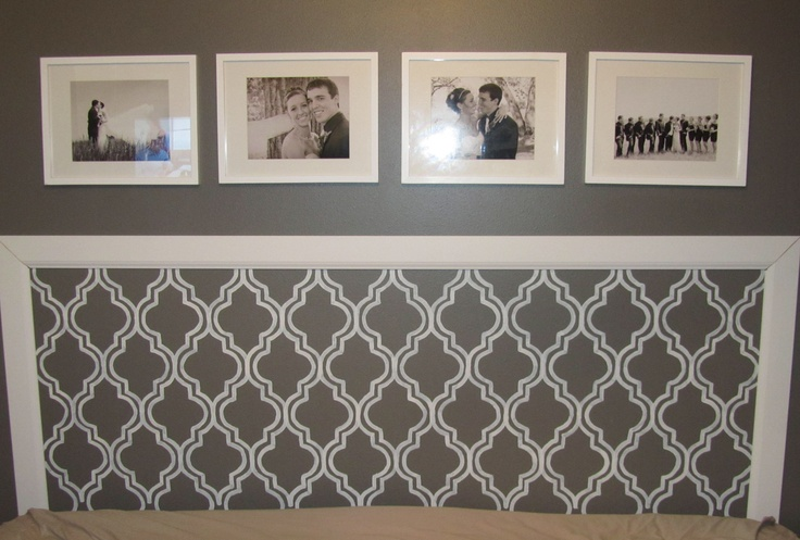 Diy Headboard Molding Stencil Painting Pictures