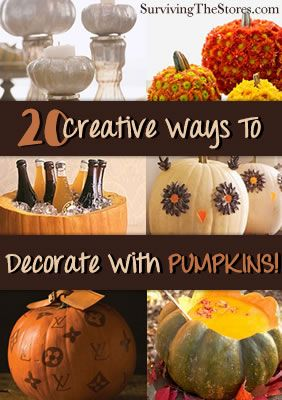 20 Creative Ways to Decorate with Pumpkins!
