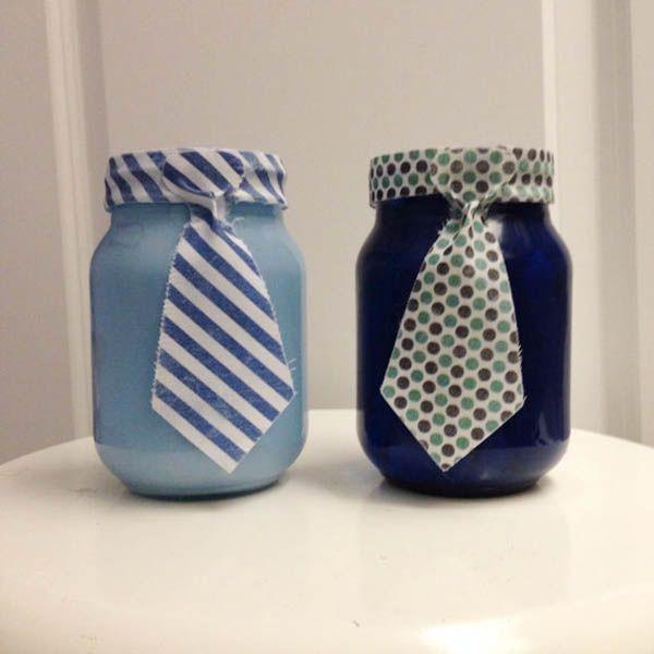 father's day mason jar ideas   Father's Day Tie Mason Jars