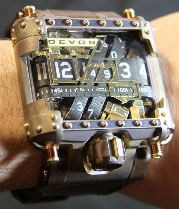 Devon Tread 1 Steampunk watch- yes, take an amazing American made chronograph, and make it better with a little steam!!!