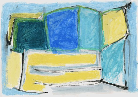 """""""12/22-05"""" by sanae  h20.9cm w 29.7 cm Gouache and Water-soluble on Paper 2003"""